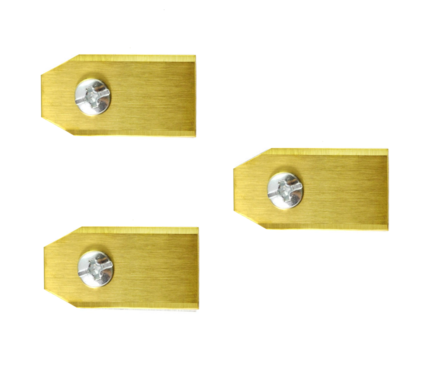 3 geheel titanium Gardena mesjes