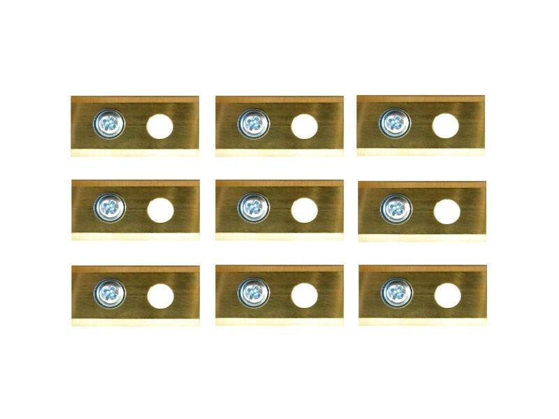 9 volledig titanium Worx Landroid mesjes