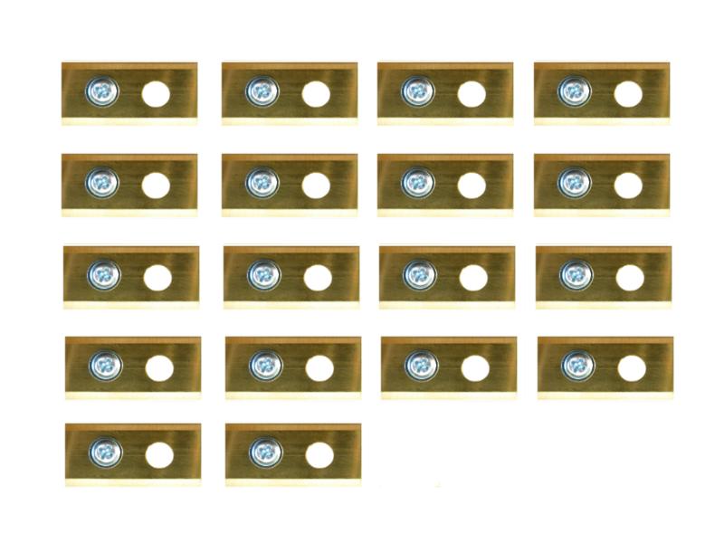 18 volledig titanium Worx Landroid mesjes