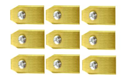 Robotmaaier Mesjes Voor Florabest – Set Van 9 Titanium Gecoat