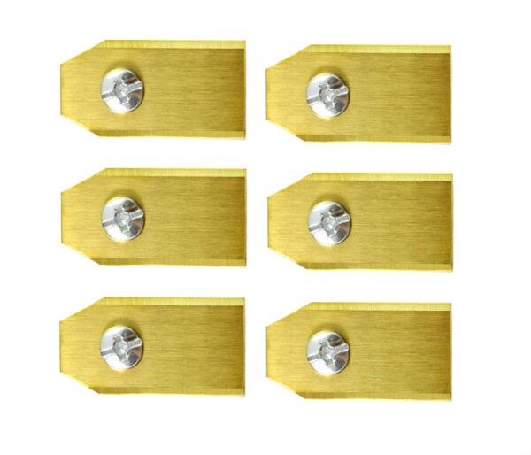 Robotmaaier mesjes voor Yardforce - Set van 6 titanium gecoat