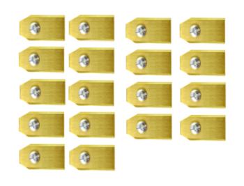 Robotmaaier Mesjes Voor Mowox – Set Van 90 Titanium Gecoat