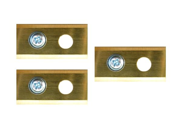 Robotmaaier mesjes voor LandXcape – set van 3 titanium gecoat